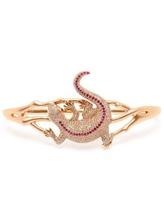 Shop Gaydamak 18k Rose Gold and Ruby Iguane Hand Bracelet in Browns from the world's best independent boutiques at farfetch.com. Shop 400 boutiques at one address.