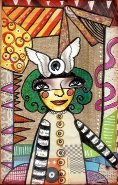 Teesha Moore inspired. Sketchbook. 31 Day Art Journal Challenge. Collage.