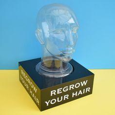 Vintage Display Head - Shop Retail - Regrow Your Hair - Hat Display