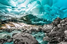 blue ice Photo by E. Tracy -- National Geographic Your Shot