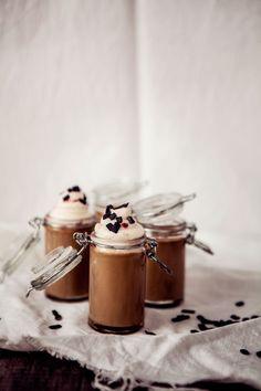 Licorice & Vanilla Panna Cotta with Raspberry Whipped Cream & Salt Licorice Sprinkles