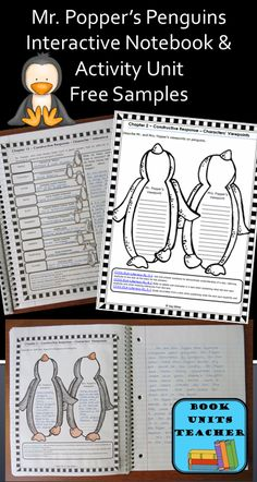 FREE sample pages from Mr. Popper's Penguins Book Unit.