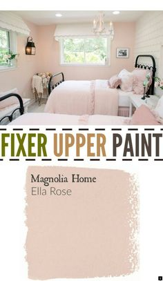 Upper Season Four Paint Colors Best Matches For Your Home Fixer Upper Paint Color Ella Rose. Perfect color for a little girls room or nursery paint color. Perfect color for a little girls room or nursery paint color. Fixer Upper Paint Colors, Nursery Paint Colors, Wall Colors, Pink Paint Colors, Nursery Paintings, Magnolia Homes, Little Girl Rooms, Little Girls Room Decorating Ideas Toddler, My New Room