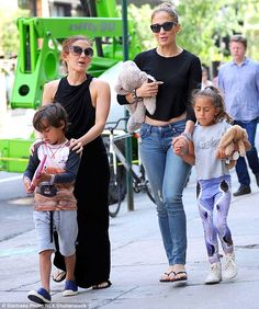 Their kids: Jennifer and Marc have twins together, Max and Emme; here they are seen with mom in 2014