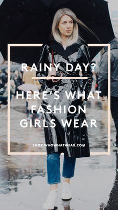 No matter what Mother Nature throws your way, look cute and stay dry with these rainy-day staples. We've got you covered from head to toe.