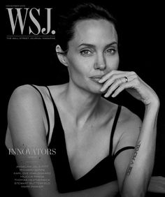 Angelina Jolie for WSJ. Magazine November 2015 by Peter Lindbergh cover