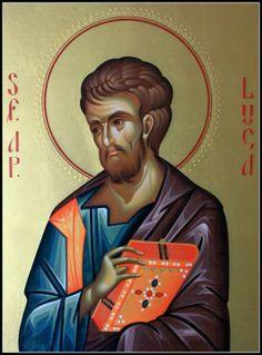 Luke The Evangelist, Byzantine Icons, Orthodox Christianity, Orthodox Icons, Christian Art, Jesus Christ, Catholic, Coloring Pages, St Luke