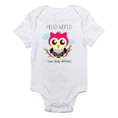 Cute owl newborn onesie available in different colors only in Etsy at https://www.etsy.com/listing/193144797/onesie-owl-onesie-newborn-onesie-coming