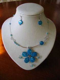 Ensemble de bijoux de turquoise collier et par LesBijouxLibellule, $25.00