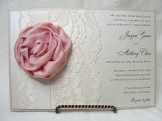 CASSANDRA  BLUSH Lace Wedding Invitation by LavenderPaperie1, $637.50