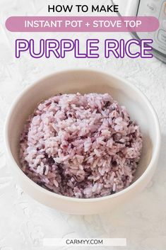 Curious as to how to make Korean Purple Rice at home? This post will show you how I make mine in my Instant Pot and stove top! | Instant Pot Rice | Stovetop Rice | Meal Prep Rice Side Dish Recipes, Asian Recipes, Beef Recipes, Vegetarian Recipes, Rice Recipes, Side Dishes, Dinner Recipes, Lunch Meal Prep, Easy Meal Prep