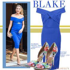 Blake Lively Outfits, Blake Lively Style, One Shoulder, Shoulder Dress, Cocktail, Formal Dresses, Fashion, Blue, Gowns