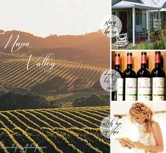 Napa Valley: stay here, drink lots of this, catch up on this