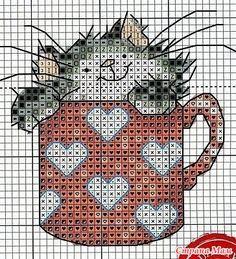 Вышивка крестиком - схемы котов и котят. Много! - Клуб рукоделия - Страна Мам