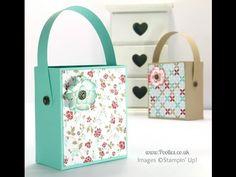 Hinged Handled Pretty Bag Tutorial