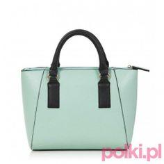 Turkusowy shopper, New Look  #polkipl #moda #fashion #trendy