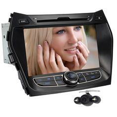 Generic 8 Inch In Dash Car DVD Player GPS Navigation Digital Touchscreen for IX45 with Wireless Rear Camera