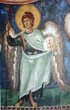 Byzantine Icons, Byzantine Art, Religious Paintings, Religious Art, Fresco, Religion, Angels Among Us, Art Icon, Orthodox Icons