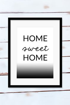 Home Sweet Home print (FREE printable) | A Lovely Look