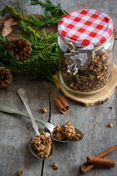 Granola, Junk Food, Lchf, Snacks, Food And Drink, Gluten Free, Homemade, Vegan, Wander