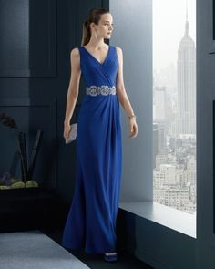 Long dress blu Rosa Clarà