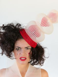 Items similar to Queen of Hearts - Red and cream hat / fascinator for Melbourne Cup Carnival / Spring Racing Events on Etsy Off With Their Heads, Cream Hats, Spring Racing Carnival, Headpieces, Fascinators, Racing Events, Melbourne Cup, Millinery Hats, Fancy Hats