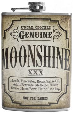 MOONSHINE FLASK