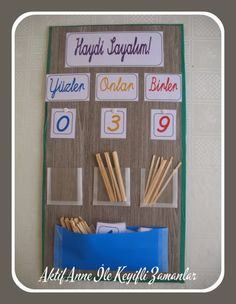 Rodi'nin sınıfına ve bizim eve Teaching Aids, Teaching Math, Adjective Word List, Math Games, Special Education, Teacher, School, Frame, Montessori