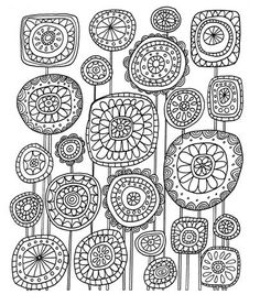 Lisa Congdon Folk Art Coloring Book Just Add Color Folk Art 30 Original Illustrations To Color, Just Add Color Folk Art 30 Original Illustrations To Color, Just Add Color Folk Art 30 Original Illustrations To Color, Doodle Patterns, Zentangle Patterns, Embroidery Patterns, Folk Embroidery, Flower Embroidery, Colouring Pages, Adult Coloring Pages, Coloring Books, Zen Doodle