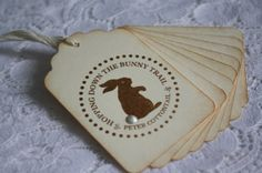 Handmade Easter Bunny Gift Tags  Hopping Down the by wkburden, $4.99