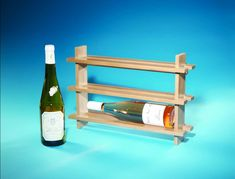 This quick project is finished before you start. Well, bear with me: You put finish on all of the parts before you actually cut any joints. Easy Wood Projects, Easy Woodworking Projects, Popular Woodworking, Hanging Wine Rack, Woodworking Magazine, Wood Working, Joinery, Simple Wood Projects, Simple Wood Projects