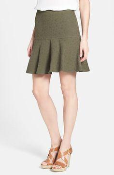Halogen® Cotton Fit & Flare Skirt (Regular & Petite) | Nordstrom