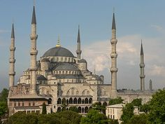 Blue Mosque in Istanbul, a World Heritage Site and example of the classical style period of Ottoman architecture, showing Byzantine influence. Ottoman architecture - Wikipedia, the free encyclopedia Byzantine Architecture, Mosque Architecture, Art And Architecture, Turkish Architecture, Architecture Portfolio, Sultan Ahmed Mosque, Ottoman Turks, Blue Mosque, Hagia Sophia