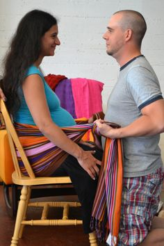 Connect with your partner with a rebozo! Read the blog for more info...