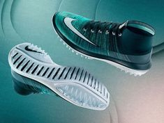 Nike Flyknit Elite golf shoes upper and sole