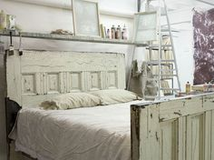 Queen-sized Reclaimed Wooden Door Bed Frame