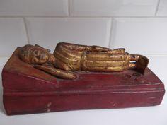 sleeping Buddha gilded and lacquered wood Birma