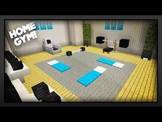 Minecraft - How To Make A Gym! Today I'm going to show you how to make a nice and easy Minecraft Gym. This Minecraft Gym will look great in all of your build. Villa Minecraft, Minecraft House Plans, Minecraft Mansion, Easy Minecraft Houses, Minecraft House Tutorials, Minecraft Room, Minecraft House Designs, Minecraft Decorations, Minecraft Tutorial