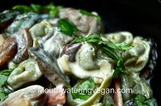 totellini panna e funghi porcini- succulent tortellini with nut cream and wild mushroom sauce OMG TO DIE FOR!!!