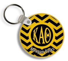 Kappa Alpha Theta Chevron Keychains from GreekGear.com