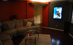 The First Room I finished. Theater Rooms, Home Theater, Hgtv, Photo Library, New Homes, Colors, Ideas, Theatre Rooms, Home Theaters