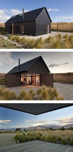 Black Houses That Make Us Want to Go to the Dark Side Friday Inspiration: Spaces « Thoughts on users, experience, and design from the folks at InVision.Friday Inspiration: Spaces « Thoughts on users, experience, and design from the folks at InVision. Casas Containers, Design Exterior, Shed Homes, Cabin Homes, Log Homes, Modern Barn, Modern Farmhouse, Black House, Black Shed