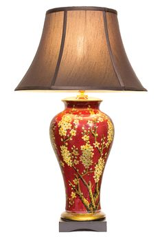 Qishuyan porcelain vase lamp bird theme lamp bases and oriental chinese table lamp tree pair mozeypictures Image collections