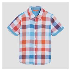 55452c901 Kid Boys' Short Sleeve Plaid Shirt from Joe Fresh. This short sleeve plaid  shirt