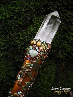 SOLD Magic Crystal Staff Rose Quartz Aventurine by SpinningCastle