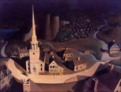 The Midnight Ride of Paul Revere by Grant Wood - Handmade Oil Painting on Canvas - American Paintings — Canvas Paintings Grant Wood, Paul Revere, Art Grants, Michael Art, Famous Artwork, American Gothic, Collaborative Art, Modern Landscaping, Art Reproductions