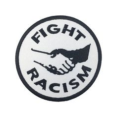 Fight Racism patch Sew on Patches Punk patch Back patches Iron on patch embroidered patch Punk Patches, Cool Patches, Pin And Patches, Sew On Patches, Iron On Patches, Jacket Patches, Motorcycle Patches, Punk Jackets, Back Patch