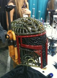 Boba Fett Glass Pipe Helmet