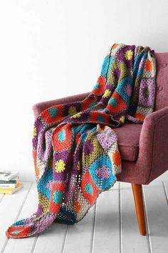 Plum & Bow Granny Throw Blanket- Grey One