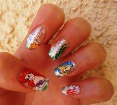 The Little Mermaid 'Ariel' Nails